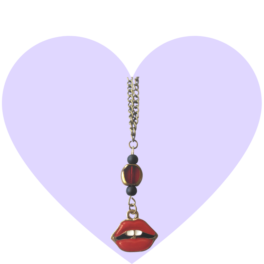 Red Delicious Lip Necklace