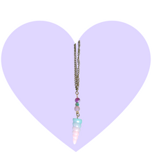 Load image into Gallery viewer, Magical Glitter Unicorn Horn Necklace