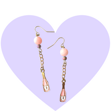 Load image into Gallery viewer, Champagne Celebration Bubbly Dangle Earrings