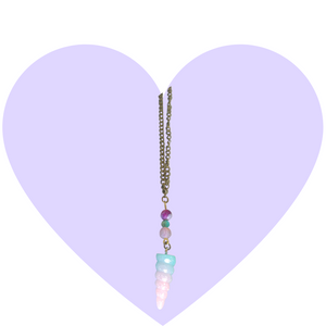 Magical Glitter Unicorn Horn Necklace