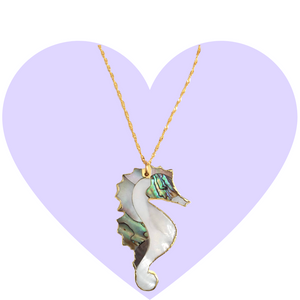 Dreamy Shell Seahorse Necklace
