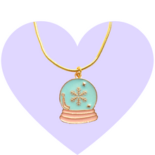 Load image into Gallery viewer, Glitter Dreams Snow Globe Necklace