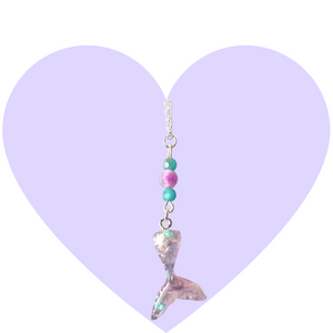 Glitter Mermaid Tail Necklace
