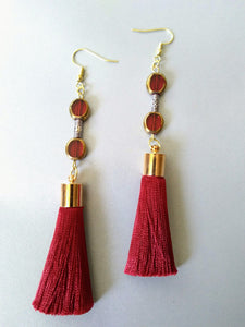 Gold + Merlot Earrings