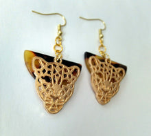 Load image into Gallery viewer, Fierce Feline Filigree Earrings