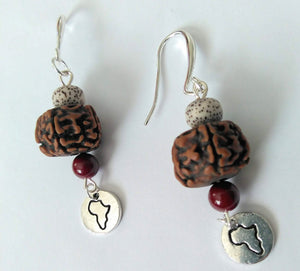 Sacred Land Bodhi Seed Earrings