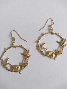 Olympic Laurel Wreath Hoop Earrings