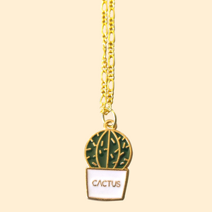 Call Me Cactus Necklace