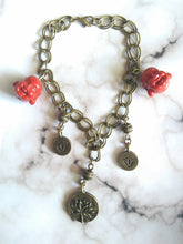 Load image into Gallery viewer, Lucky Lotus Laughing Buddha Charm Bracelet