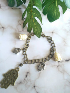 Meditation + Protection Charm Bracelet
