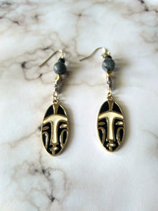 We Wear the Mask Dangle Earrings