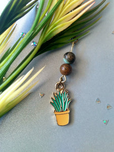 Green Flora Plant Necklace
