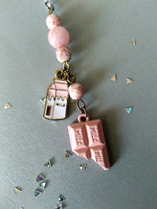 Pink Chocolate Milk Necklace