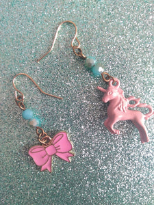 Pretty in Pink Mismatched Earrings