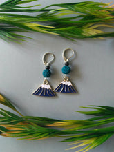 Load image into Gallery viewer, Snow-Capped Mountain Dangle Earrings