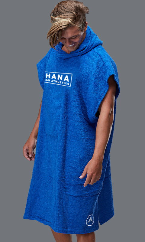 OHANA HOODED TOWEL- ROYAL