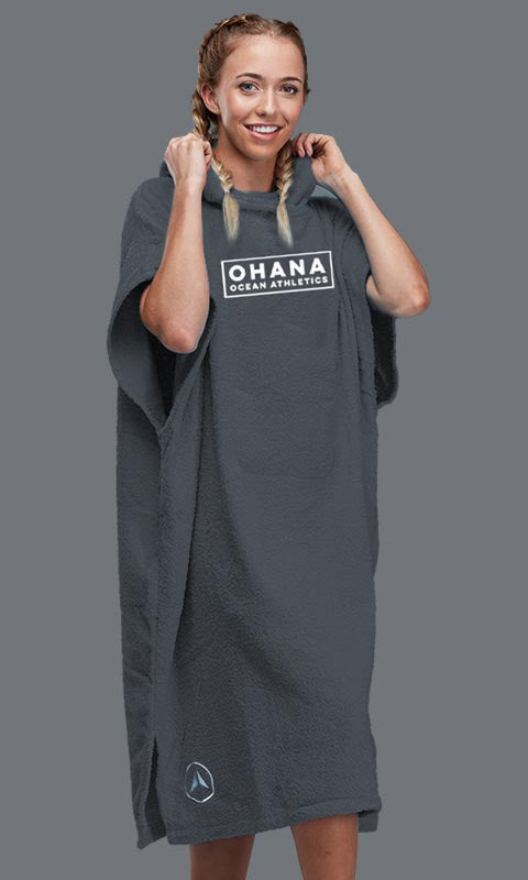 OHANA HOODED TOWEL- FOLKSTONE GRAY