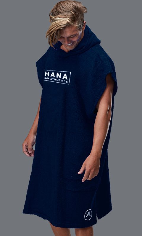 OHANA HOODED TOWEL- NAVY