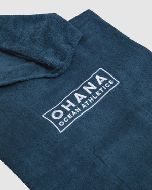 OHANA HOODED TOWEL- BLUE SHADOW