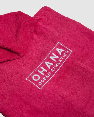 OHANA HOODED TOWEL- WATERMELON