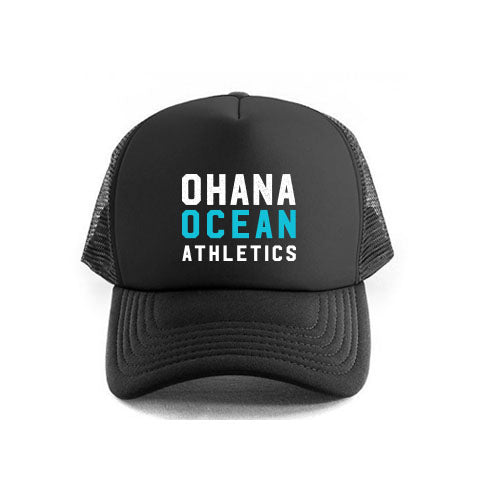 OHANA OCEAN ATHLETICS TRUCKER CAP- BLACK
