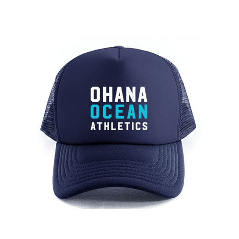 OHANA OCEAN ATHLETICS TRUCKER CAP- NAVY