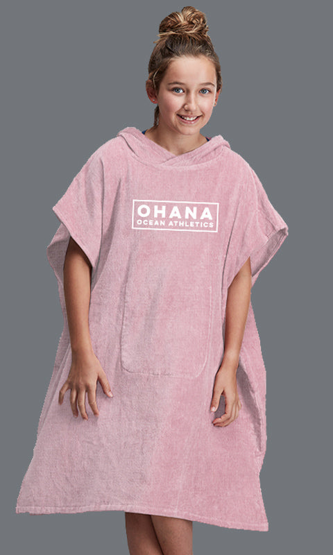 OHANA YOUTH HOODED TOWEL- EVENING SAND