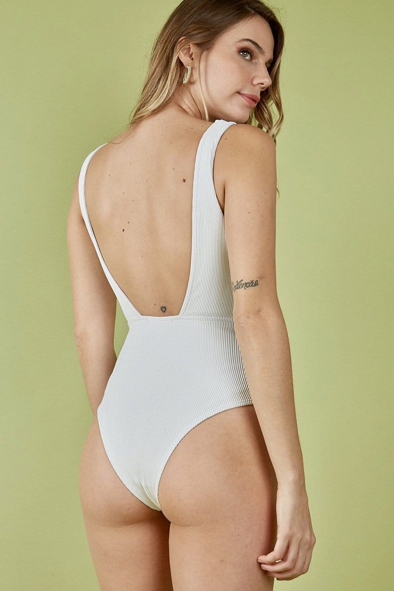 Body Tira Fina Decote Costas Aberta Off White