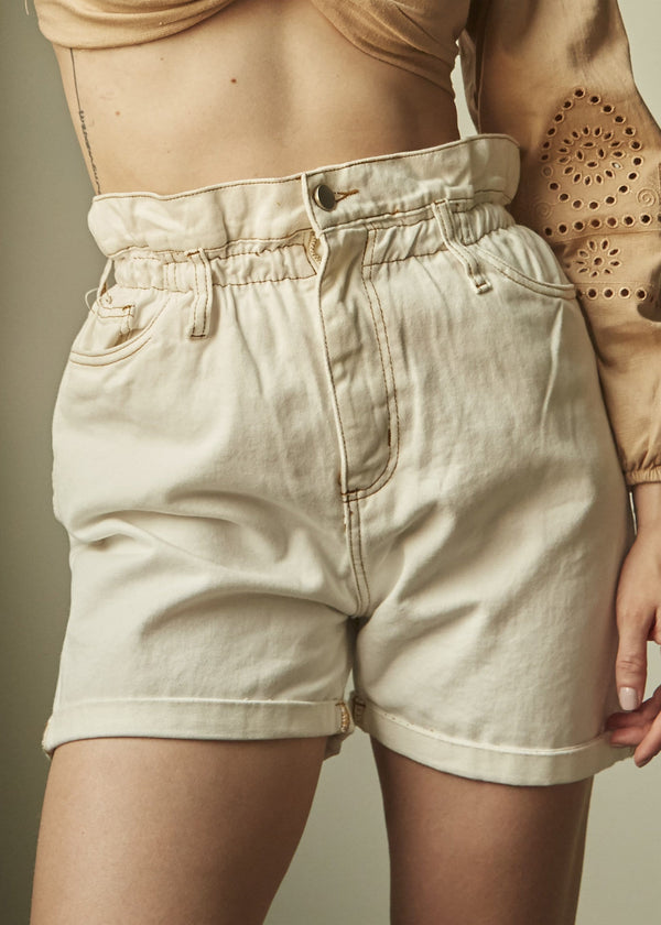 Shorts Jeans Clochard Off White