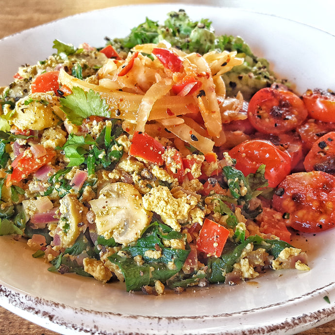 Fiery Vegan Scrambled Tofu