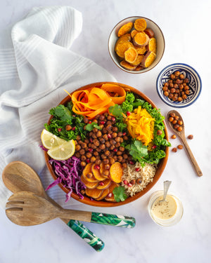 Miso Chickpea Salad with Turmeric & Ginger Dressing