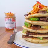 Pancakes with fermented foods