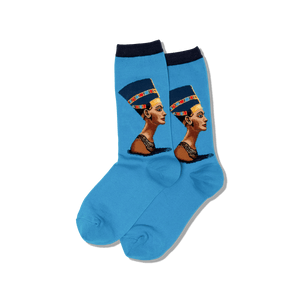 Womens Nefertiti Crew Socks