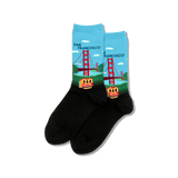 Womens Golden Gate Bridge Socks thumbnail