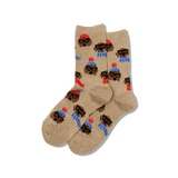 Women's Dressed Dogs Crew Socks thumbnail