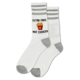 Women's Extra Fries Not Exercise Crew Socks