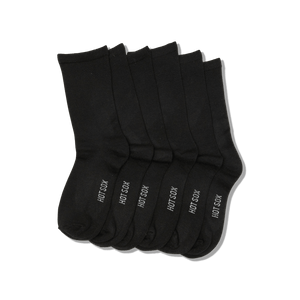 Women's Solid 3-Pack Crew Socks