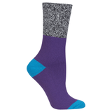 Women's Marl Cuff Boot Crew Socks