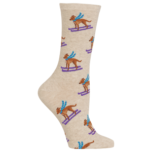 Women's Ski Dog Crew Socks