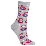 Women's Uncle Sam Hat Crew Socks