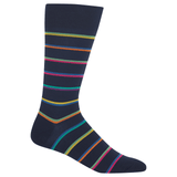 Men's Ribbon Multi Stripe Crew Socks