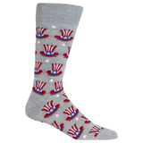Men's Uncle Sam Hat Crew Socks