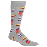 Men's Peanut Butter And Jelly Crew Socks