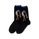 Women's Vermeers Girl With a Pearl Earring Socks thumbnail