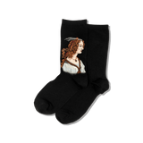 Women's Portrait of a Young Woman Socks thumbnail