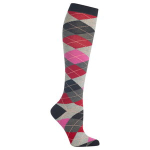 Women's Argyle Knee High Socks