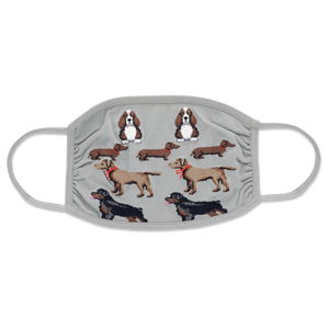 Multi Dogs Double Layer Face Mask