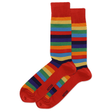 Men's Fun Striped Crew Socks thumbnail
