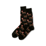 Men's Christmas Dachshunds Crew Socks