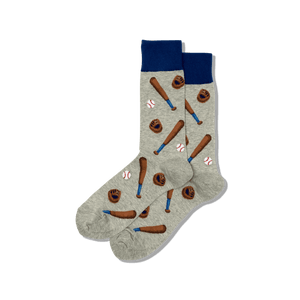 Men's Novelty Baseball Crew Socks